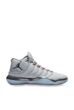 19c4bbfeddd3db Nike Jordan Super Fly 2017 Wolf Grey Basketball Shoes
