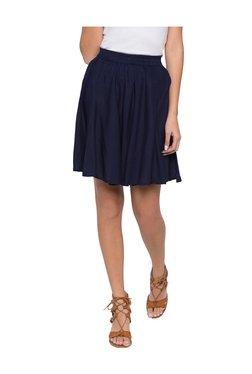Globus Navy Above Knee Flared Skirt