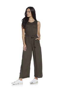 dac5c1d3273c Nuon by Westside Khaki Jumpsuit With Belt