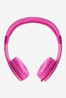 Astrum HS160 On The Ear Kids Wired Headphones (Heart Pink)