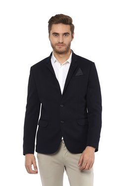 Mufti Navy Full Sleeves Notched Lapel Blazer 38d91d342