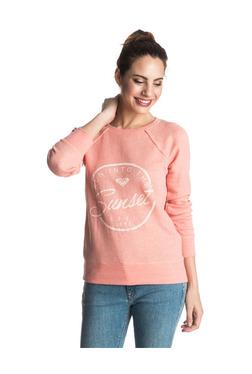 Roxy Coral Printed Full Sleeves Sweatshirt