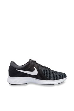 new arrival 6d444 48439 Nike Revolution 4 Black Running Shoes