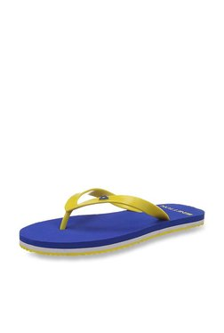 United Colors Of Benetton Yellow & Blue Flip Flops