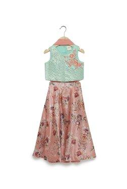 fe1643ed9fb Utsa Kids by Westside Pink Floral Ghagra Choli Set