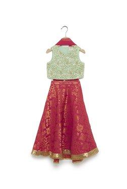 657bb453eb3 Utsa Kids by Westside Pink Brocade Ghagra Choli Set