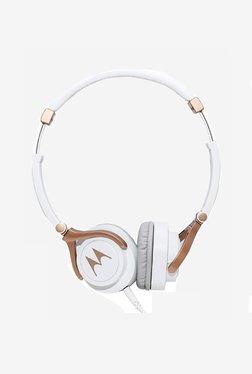Motorola Pulse 3 Over The Ear Headphones (White/Gold)