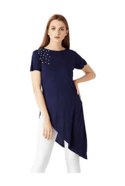 Miss Chase Navy Embellished Tunic