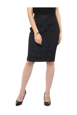 Kazo Blue Bodycon Skirt