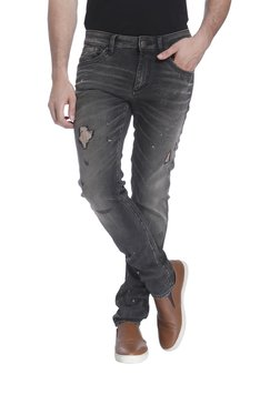 Jack & Jones Grey Slim Fit Lightly Washed Jeans