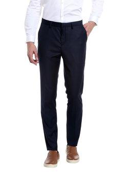 Jack & Jones Blue Slim Fit Flat Front Trousers