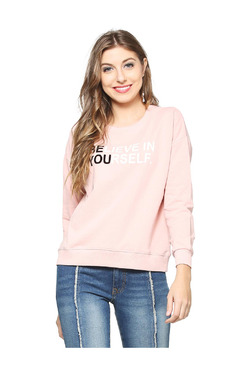 People Pink Printed Sweatshirt 483eeac257