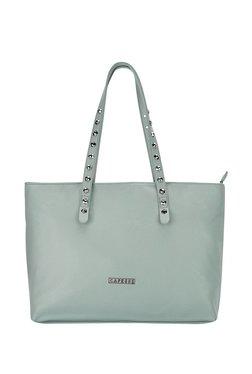 Caprese Merona Aqua Blue Solid Shoulder Bag