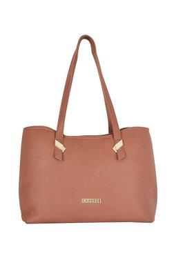 Caprese Rooky Pastel Brown Solid Shoulder Bag