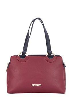 4b4a3f184679 Caprese Gemma Maroon Solid Handbag
