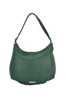 Caprese Brigetta Forest Green Solid Hobo Shoulder Bag