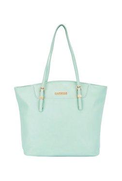 Caprese Francesca Mint Blue Solid Shoulder Bag