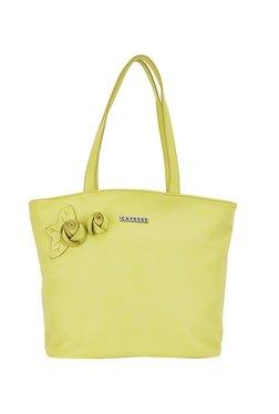 Caprese Rosamund Lime Green Floral Shoulder Bag