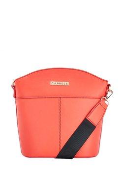 Caprese Nars Orange Solid Sling Bag