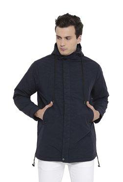 Duke Navy Hooded Full Sleeves Jacket
