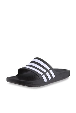 Adidas Duramo Thong Black Slippers for Men online in India at Best ... 0dad0ad94
