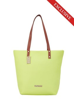 Caprese Tilda Lime Yellow Solid Tote