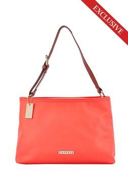Caprese Tilda Coral Pink Solid Shoulder Bag