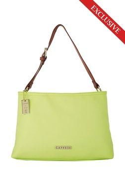 Caprese Tilda Lime Green Solid Shoulder Bag