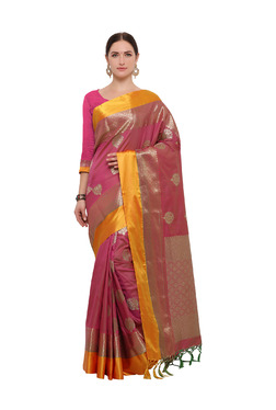Varkala Silk Sarees Pink Silk Saree With Blouse