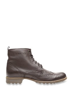 United Colors Of Benetton Coffee Brown Brogue Boots