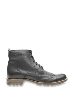 United Colors Of Benetton Black Brogue Boots