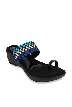 75411580fdd Catwalk Blue Toe Ring Wedges