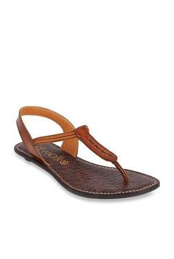 4a6ba424dddf16 Catwalk Tan T-Strap Sandals