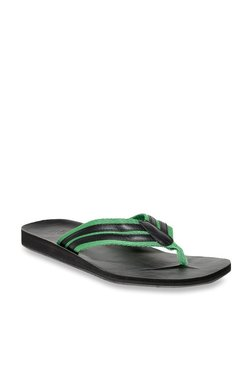 United Colors Of Benetton Green & Black Flip Flops