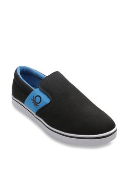 United Colors Of Benetton Black & Blue Casual Plimsolls