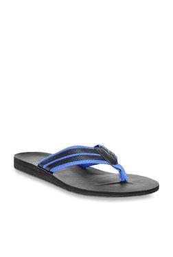 United Colors Of Benetton Blue & Black Flip Flops