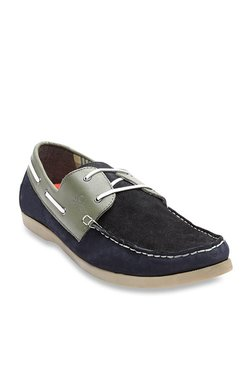 United Colors Of Benetton Navy & Olive Boat Shoes