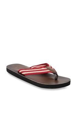 United Colors Of Benetton Red & Beige Flip Flops