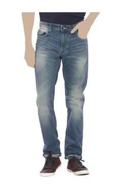 United Colors Of Benetton Light Blue Skinny Fit Lightly Washed Jeans