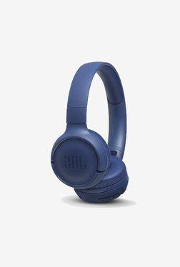 JBL T500BT Powerful Bass Wireless On-Ear Headphones with Mic (Blue)
