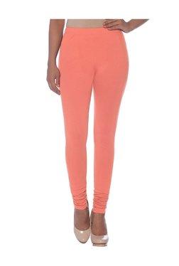 Naari Peach Cotton Churidar Leggings