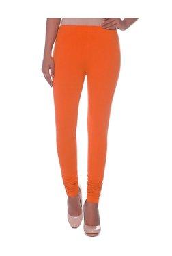 Naari Orange Cotton Churidar Leggings
