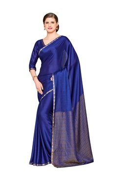 31f26c4382ecda Mimosa Blue Embellished Kanjivaram Saree With Blouse