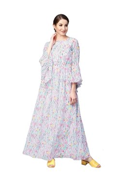 Athena Off White Floral Print Maxi Dress