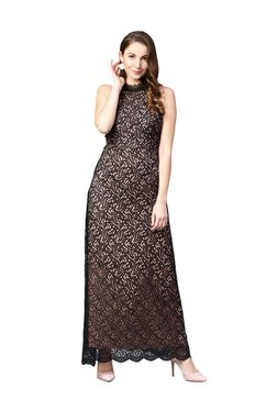 Athena Black Lace Maxi Dress