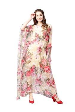 Athena Pink & Yellow Floral Print Maxi Dress