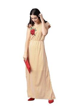 e8ae0f02dd71a Athena Mustard Striped Maxi Dress
