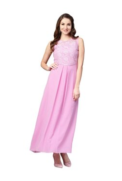 Athena Lavender Embroidered Maxi Dress