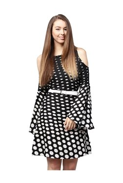 Athena Black & White Polka Dot Above Knee Dress