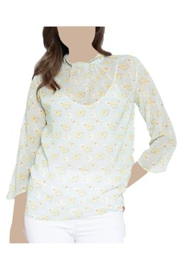 United Colors Of Benetton Green Floral Print Top